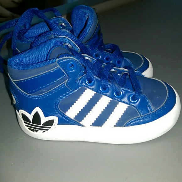 50% off adidas Shoes Blue White Hard Court Hi Boots Size 6k  9ce19cc98